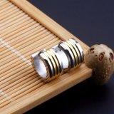 工場卸し売り螺旋形のための金によってめっきされる宝石類のイヤリング