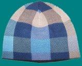 Chapéu morno feito malha teste padrão verific do Beanie com interior do velo (1-2543)