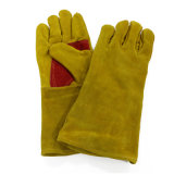 14inchによって補強される親指の革溶接手袋