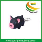 Mini maiale sveglio promozionale LED Keychain con il marchio