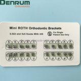 Parentesi ortodontiche dentali di Denrum MIM Monoblock Roth/Mbt con il contrassegno del laser
