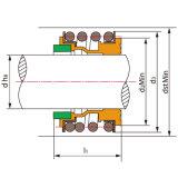 Mechanische Dichtung der Ts-Mg1 ersetzen Aesseal B02, Burgmann Mg1, Flowserve 190, MTU Fg1; für Hecker Hn 410su