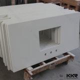 Contre- dessus en pierre extérieur solide blanc de cuisine (C1701092)