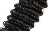 Горячие человеческие волосы волны 100g типа 5A глубокие естественные черные соткут Unprocessed бразильское выдвижение волос девственницы
