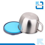 Taza aislada de múltiples funciones del acero inoxidable y taza de los alimentos de preparación rápida con la cubierta