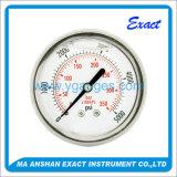 مزولة قرص نوع [سّ] حالة مع سائل يملأ ضغطة مقياس