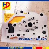 PC400-5 culata del motor del excavador 6D125 para las piezas del motor de KOMATSU
