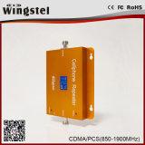 De Wingstel impulsionador móvel duplo inteligente do sinal do telefone de pilha do repetidor 2016/impulsionador/amplificador do sinal do LCD 850/1900MHz 2g 3G da faixa completamente