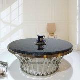 호화스러운 디자인 인쇄 검정 금속 커피용 탁자