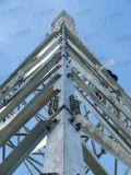 Триангулярной гальванизированная решеткой стальная башня телекоммуникаций