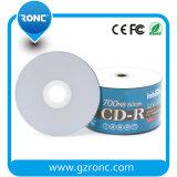 Venda Por Atacado Inkjet Branco Injutável Em Branco CD-R 700 MB 80min 52X