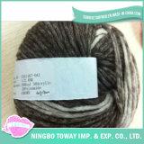 Tricotando manualmente o fio extravagante -12 do algodão da pena de lãs do poliéster