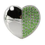 Привод большого пальца руки ручки памяти USB 2.0 сердца диаманта металла внезапный