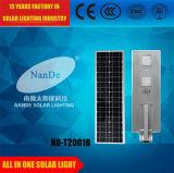 Tous dans une lumière extérieure de rue solaire avec de l'énergie puissante