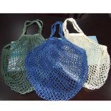 再使用可能な食料雑貨入れの袋、網のドローストリングの綿の純袋