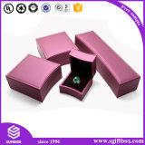Caixa de presente de empacotamento de papel de madeira Handmade luxuosa da jóia