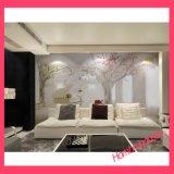 Papier de mur décoratif de décoration de beau de collant de la pierre 3D décor de PVC