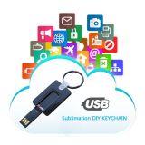 Espaço em branco da imprensa do calor do USB Keychain do Sublimation de presentes da decoração