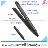 Novo Design Tourmaline Ceramic Straightener Hair Straightener com Ion Generator
