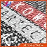 Vinilo unidireccional de las cortinas de la visión