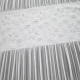 Tessuto bianco dell'indumento delle donne del jacquard dello Spandex su ordinazione di stirata