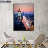 Cityscape van het realisme het Af:drukken van het Canvas van Foto