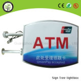 Waterproof Advertising Acrílico Round Beer Outdoor LED Light Box Sign