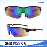 Occhiali da sole di riciclaggio ottici del rivestimento di specchio di Eyewear UV400 dello sport professionistico