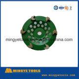 Roda verde do copo do diamante para a pedra/mármore de moedura