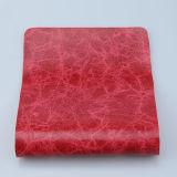 Cuero artificial de la PU del color azul marino para el sofá (F8002)