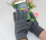 Цветастая перчатка экрана касания, нежность связала акриловые перчатки касания