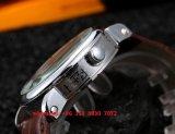 Красивый автоматический вахта движения с неподдельной кожаный планкой для людей Fs572