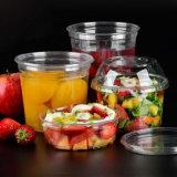 Tazón de fuente disponible claro del plástico de la fruta del animal doméstico