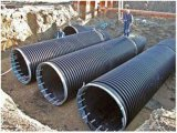 スチールバンドの下水のための補強されたHDPEの波形の管