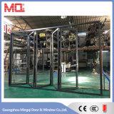 Aluminium Extérieur Faible E Porte pliante en verre Porte bi-pliable