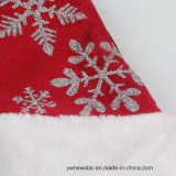La Navidad Red Hat de la alta calidad con el copo de nieve de plata para los niños