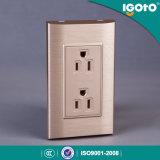 Домашняя электрическая штепсельная розетка дуплекса американского стандарта стенной розетки 6 Pin