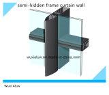 Mur rideau Semi-Caché économiseur d'énergie de bâti