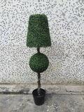 인공적인 회양목 장식 정원 공 나무