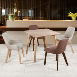 Gewebe-Polsterung-festes Holz-Gaststätte-Stuhl
