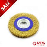 Escova lisa da roda do fio de cobre