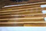 Suelo natural de la madera dura de Iroko del color multi
