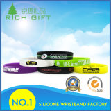 Fulgor personalizado em Wristbands quentes escuros do silicone da venda do Th