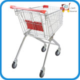 supermercado europeo del estilo 62L, carretilla de las compras del carro del empuje