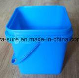 Пластмасовый контейнер квадрата качества еды PP/HDPE с ручкой 2L