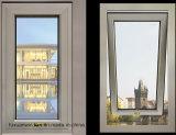 Double vitrage Windows en aluminium de tissu pour rideaux de modèle vertical en aluminium de guichet