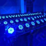 18X15W DMX 전문가 RGBWA UV 단계 LED 동위 빛