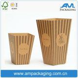 Коробка пирожня бумаги Brown Kraft качества еды изготовленный на заказ дешевая оптовая