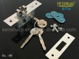 99 Bloqueio da porta deslizante com liga de zinco corpo e ferro 3keys, Cross Key