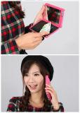 Caso creativo del teléfono móvil de la ranura para tarjeta de la carpeta del espejo para el iPhone
